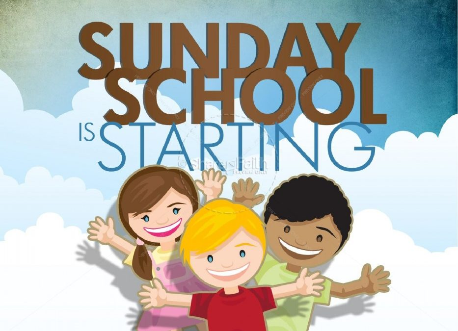 Sunday School begins in September